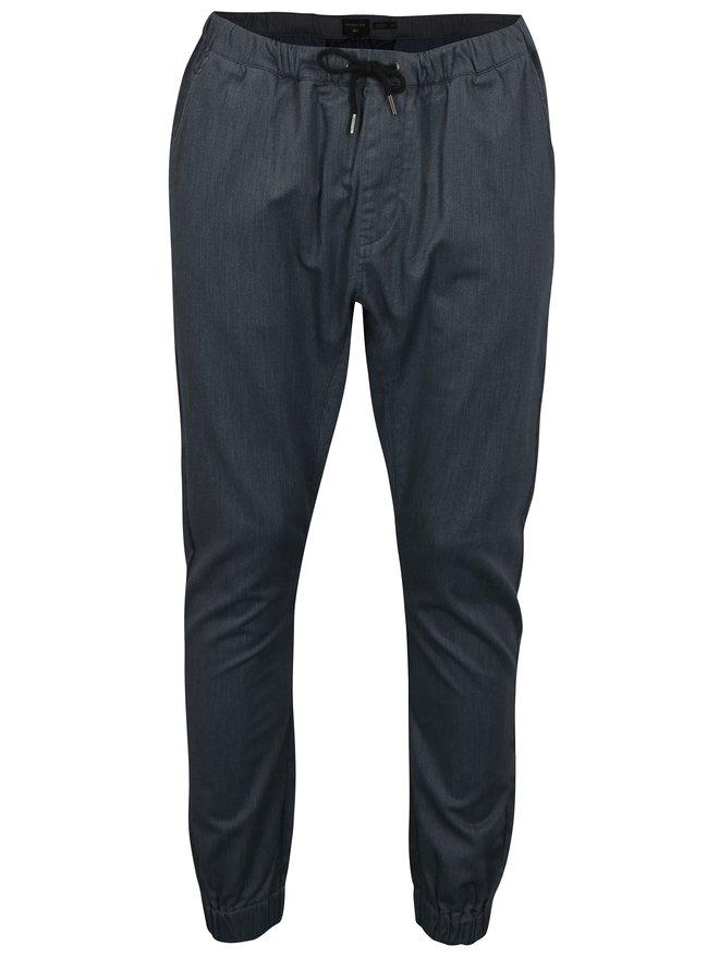 Pantaloni barbatesti gri cu banda elastica in talie Quiksilver
