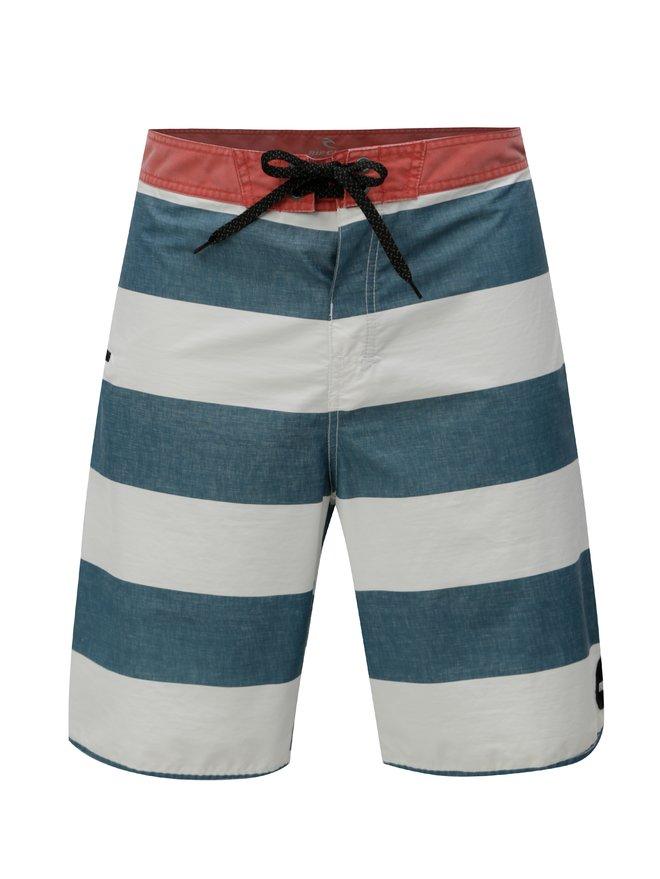 Pantaloni scurti de baie alb-verde in dungi Rip Curl