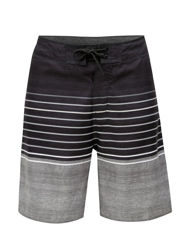 Pantaloni scurti de baie gri inchis in dungi Rip Curl