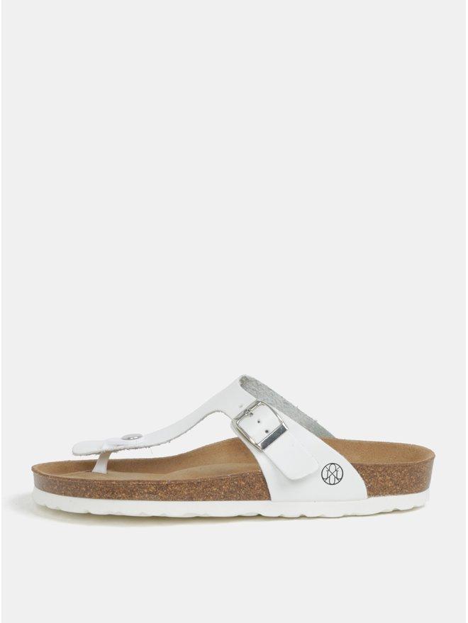 Papuci flip-flop albi - OJJU Rosas