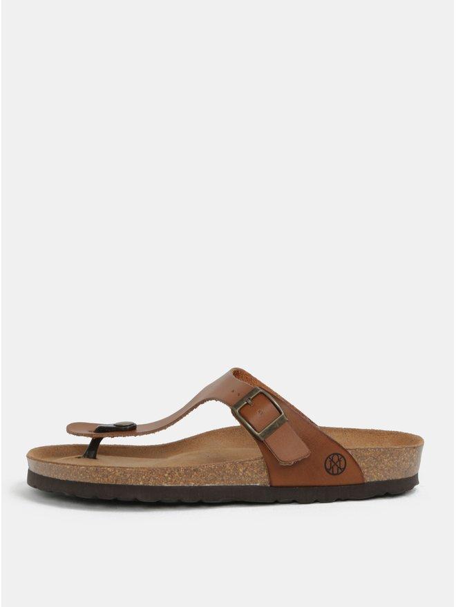 Papuci flip-flop maro deschis - OJJU Rosas