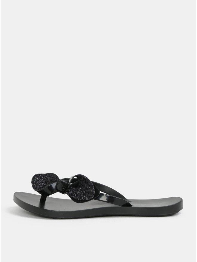 Papuci flip-flop negri cu funda Zaxy Fresh Trip