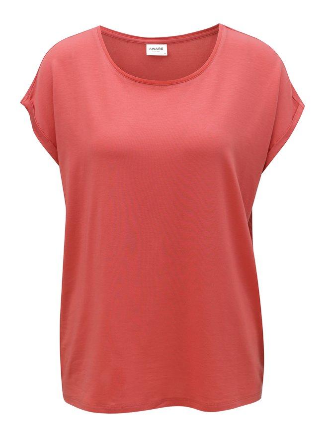 Tricou rosu oversize VERO MODA Ava