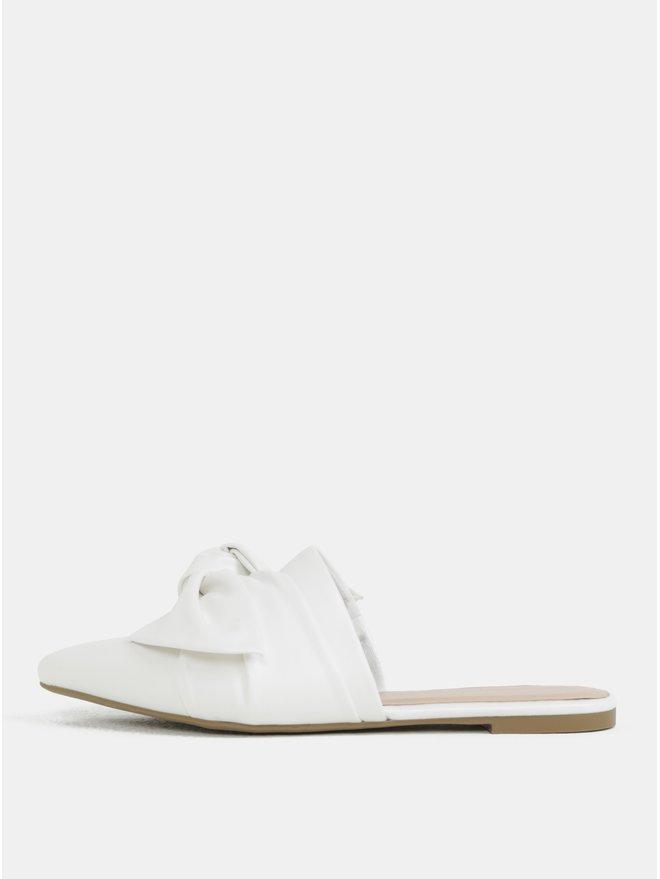 Papuci albi cu varf ascutit si fundita Dorothy Perkins
