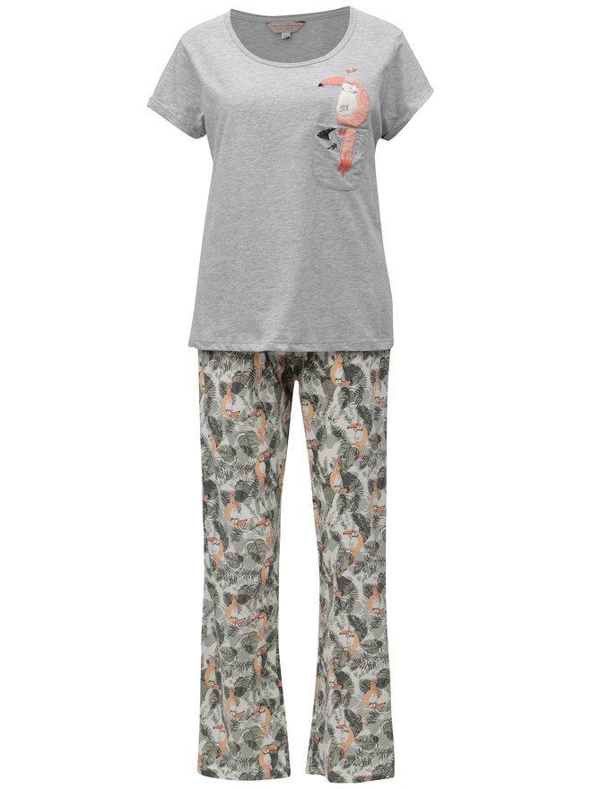 Pijama gri cu motiv de toucan Dorothy Perkins