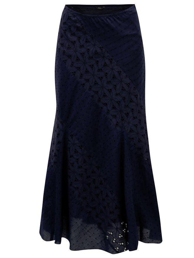 Rochie maxi albastru inchis cu dantela M&Co