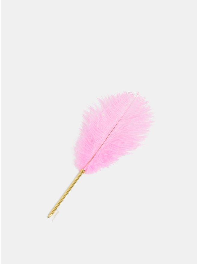 Pix de culoare aurie cu pana roz Temerity Jones