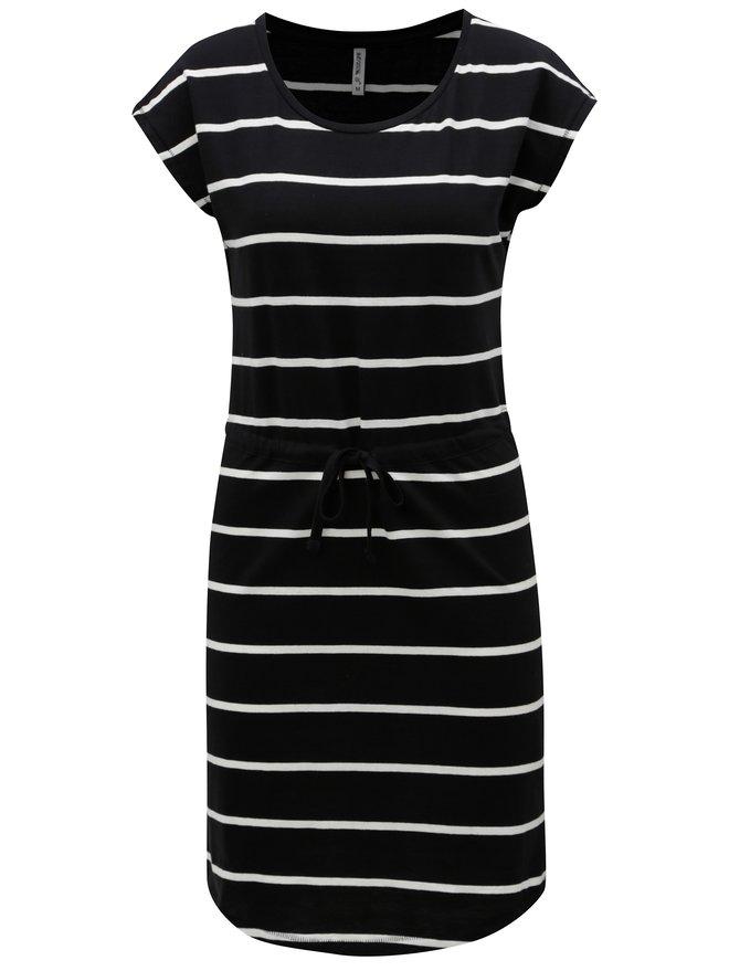 Rochie alb-negru in dungi Haily´s Olivia