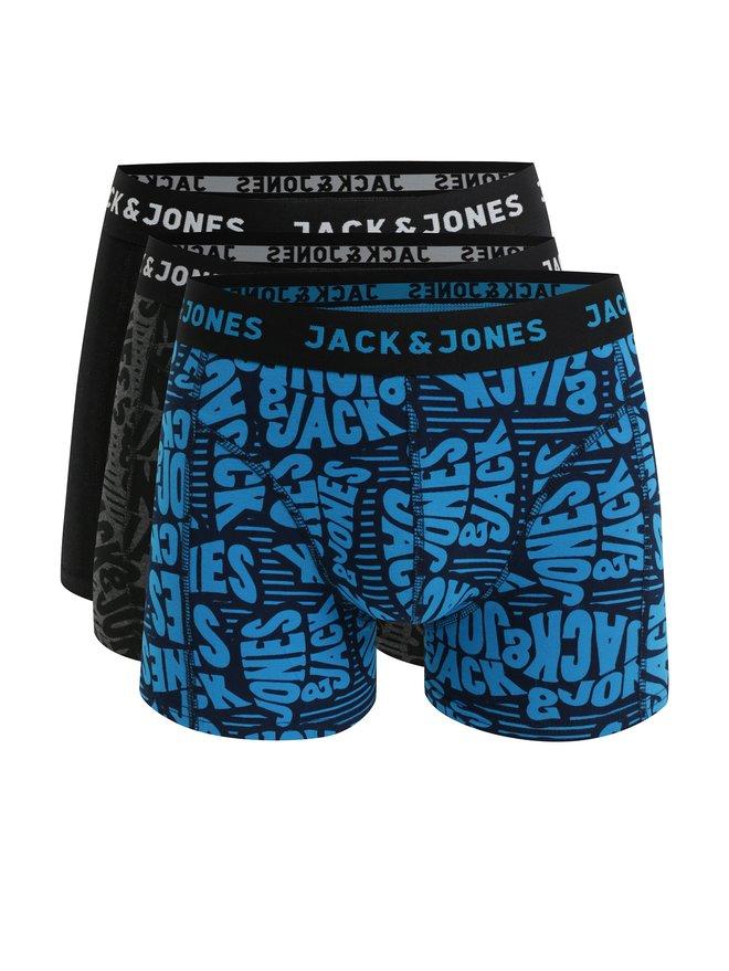 Set de 3 boxeri negri Jack & Jones