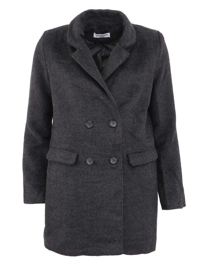 Šedý elegantní kabát Glamorous