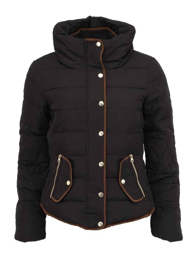 Jachetă matlasată neagră Vero Moda Macro