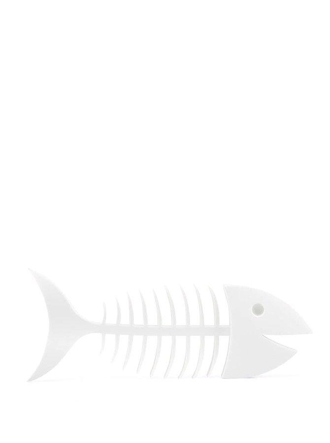 Biela podložka na mydlo Umbra Fishbone