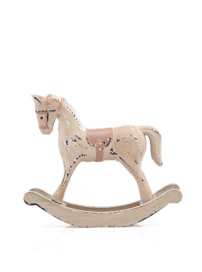 Hnědý vintage dřevěný houpací koník Dakls