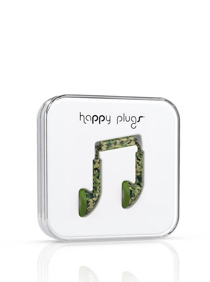 Maskáčová Earbud sluchátka Happy Plugs