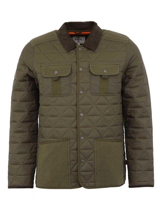 Jachetă bărbătească Bellfield Actin kaki, matlasată