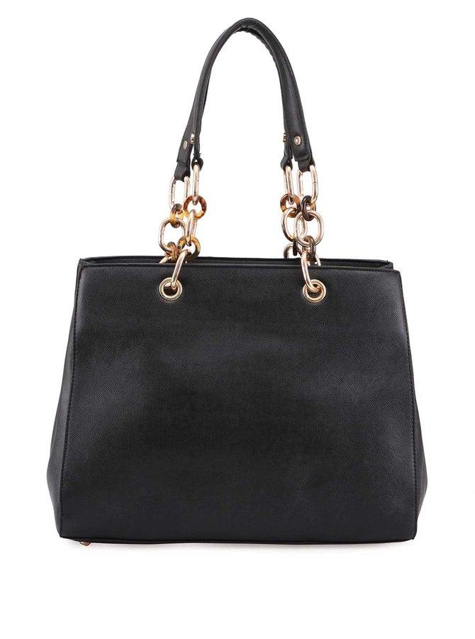 Geantă neagră Milan Fashion cu lanț auriu