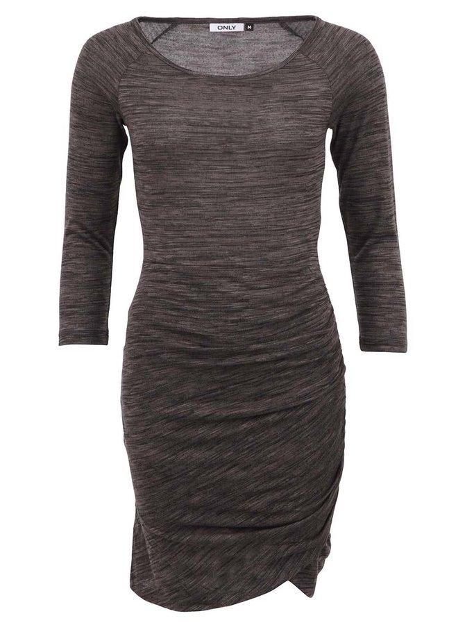 Tmavě šedé žíhané šaty Only Prima
