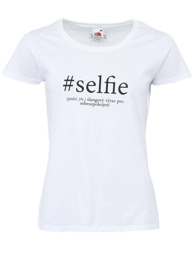 Bílé dámské tričko ZOOT Originál Selfie