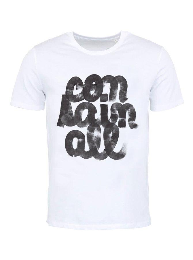 """""""Dobré"""" pánske biele tričko Containall"""