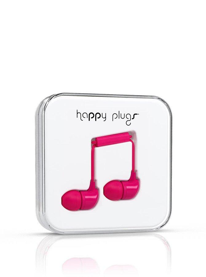 Căști Earbuds Happy Plugs roz
