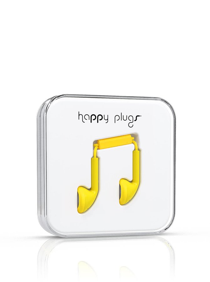 Căști galbene Happy Plugs
