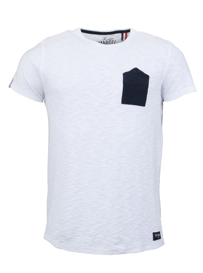 Bílé pánské triko Mr Marcel Tipocket