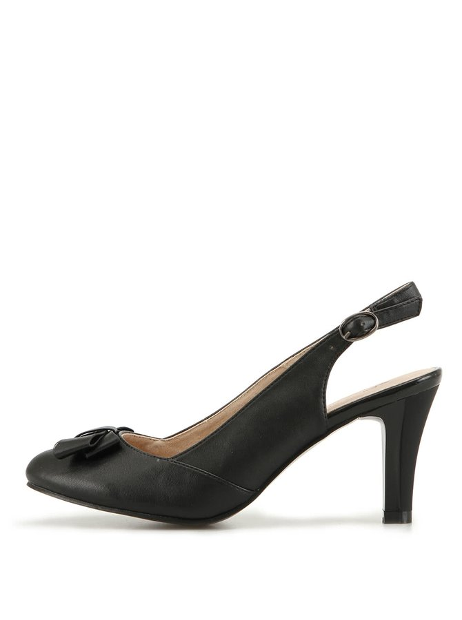 Pantofi negri decupați de la Elisabeth