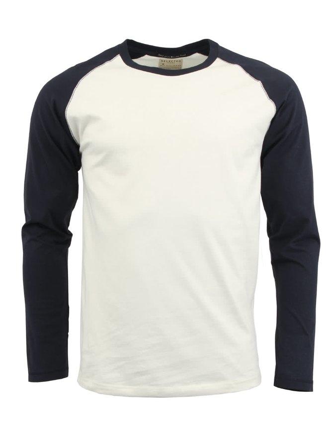 Bluză cu mânecă lungă albastru cu de la Selected