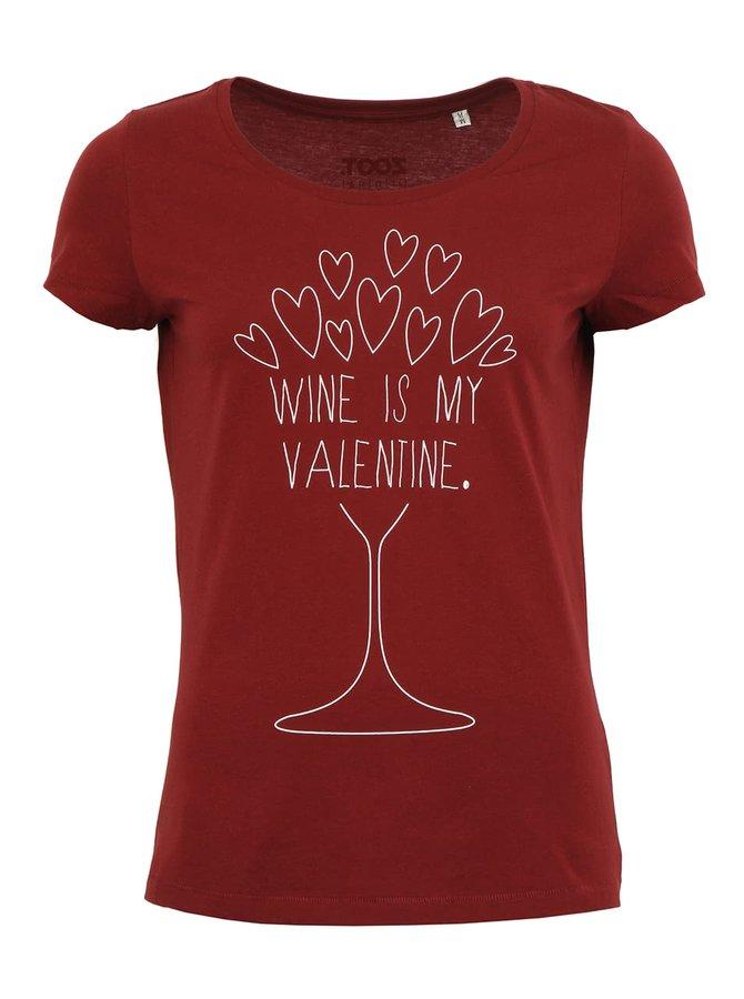 Dámské vínové tričko ZOOT Originál Wine Valentine