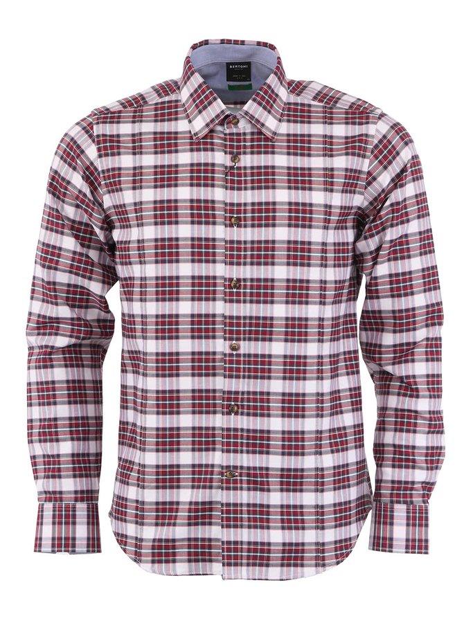 Kostkovaná košile Bertoni Slim Fit