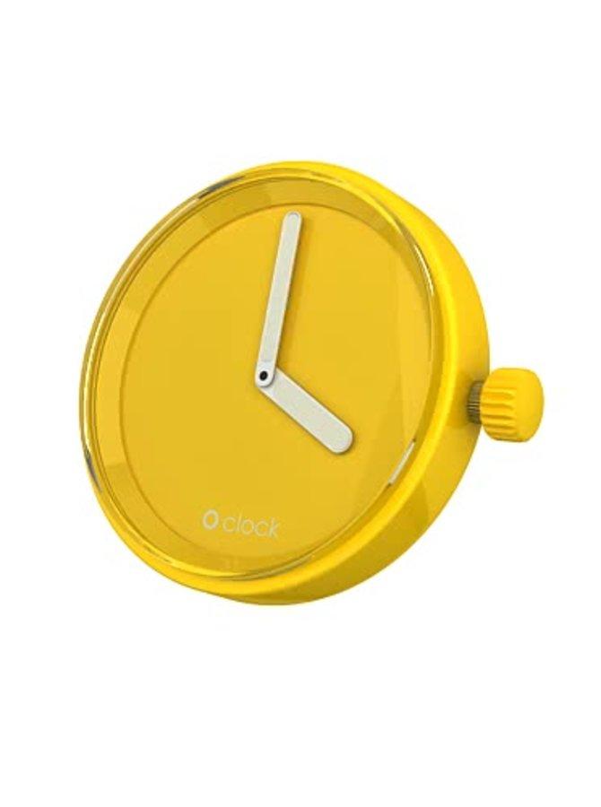 Žlutý samostatný ciferník O clock