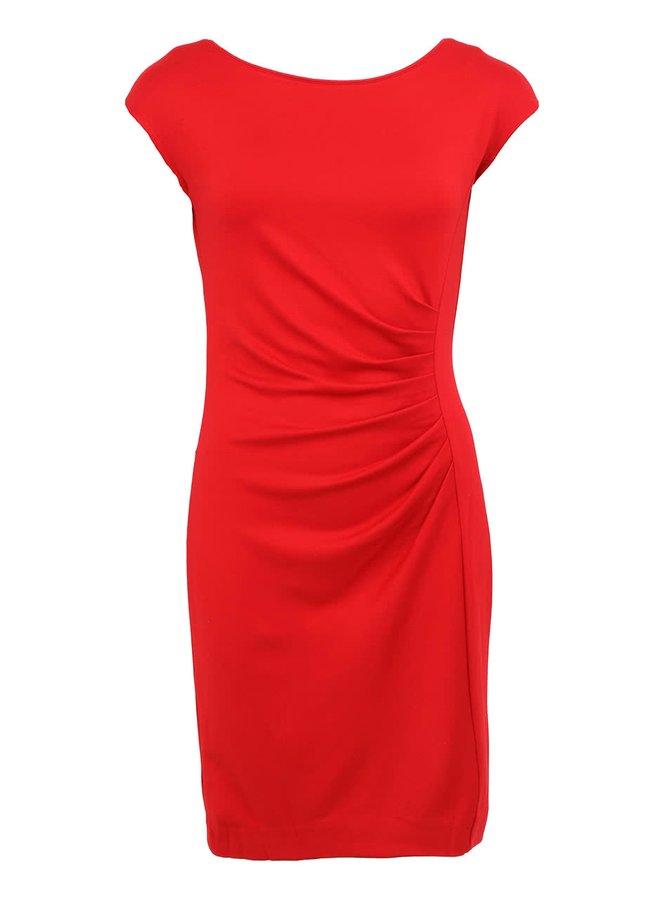 Červené šaty s nariaseným bokom Fever London Portland