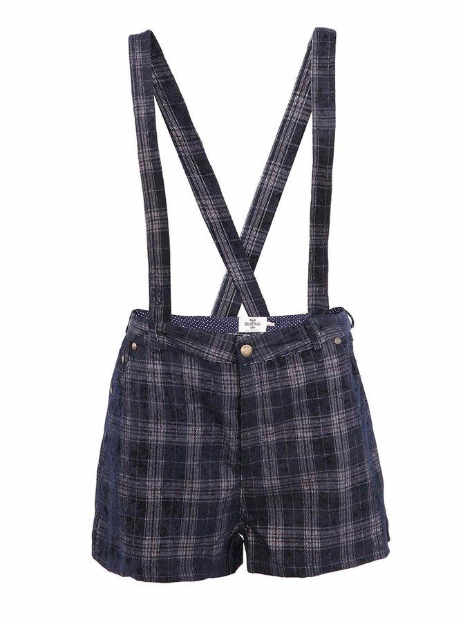 Pantaloni scurți de damă cu bretele bleumarin BELINSKI Bellfield
