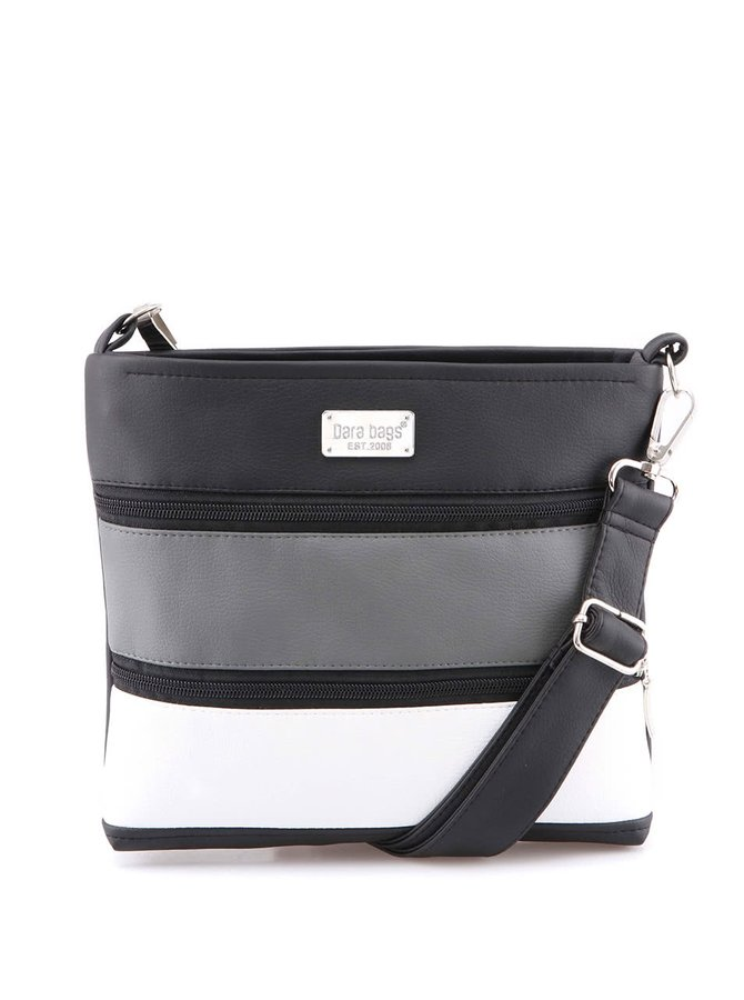 Šedo-čierna kabelka Dara bags Dariana Mini