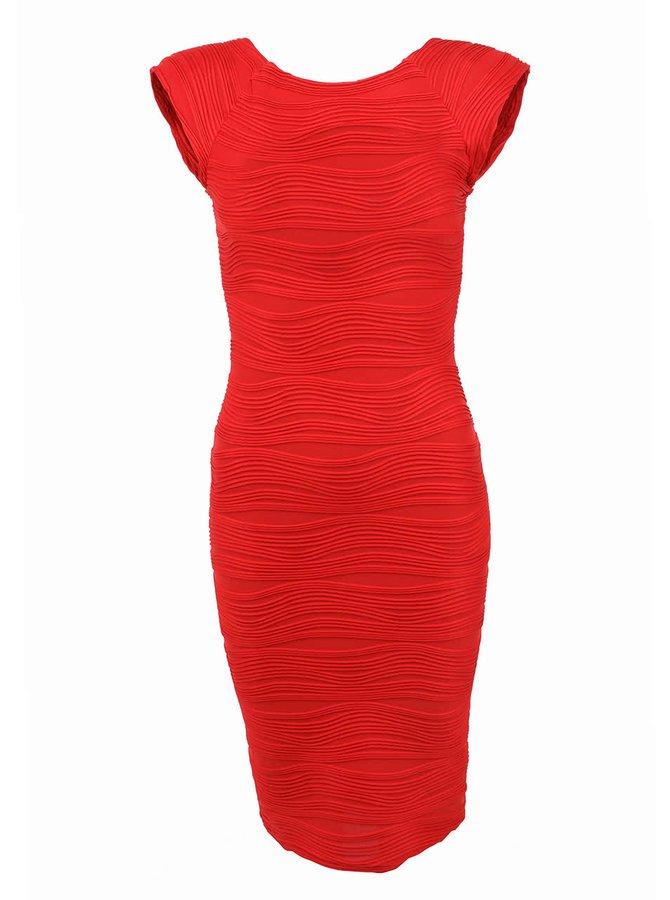 Červené pouzdrové šaty AX Paris