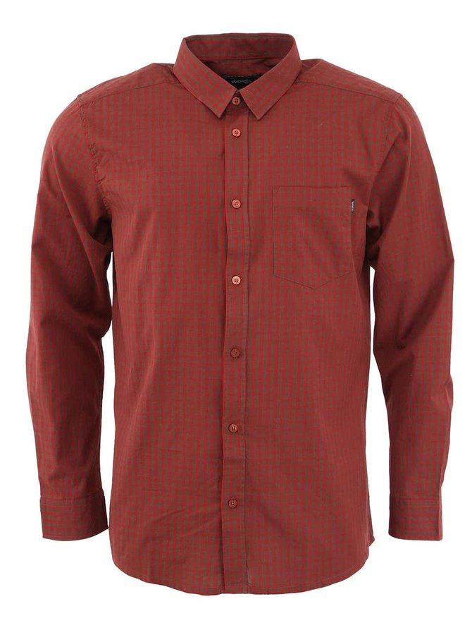 Vínovo-hnědá pánská košile WeSC Jerome