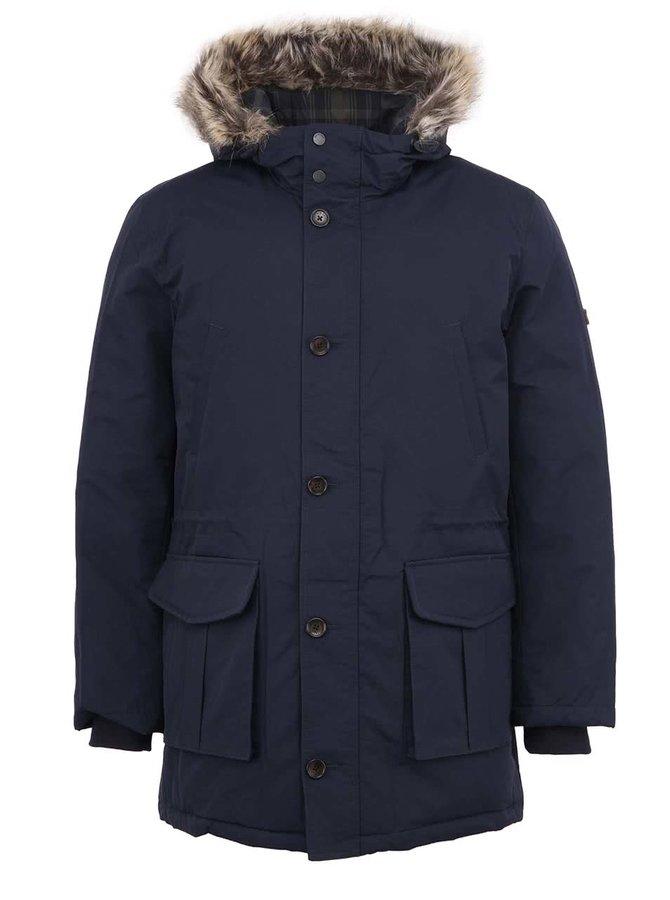 Jachetă Parka bărbătească Ben Sherman bleumarin, cu blană