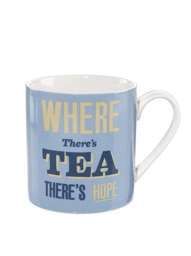 Modrý hrnek Home Front Where There's Tea