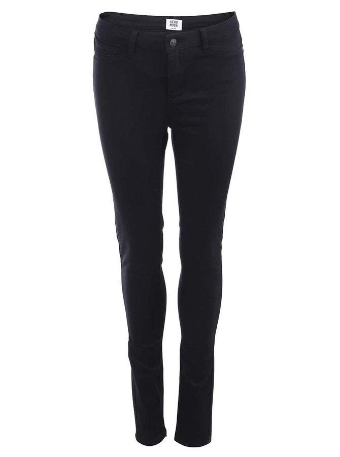 Čierne skinny nohavice VERO MODA Flex-It