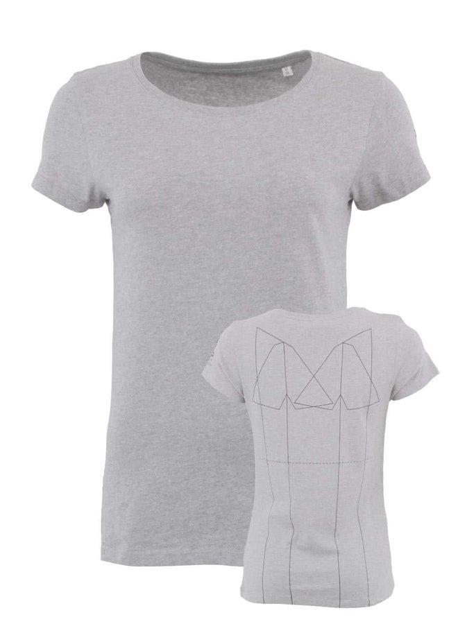 Sivé dámske tričko ZOOT Lokál Skládání