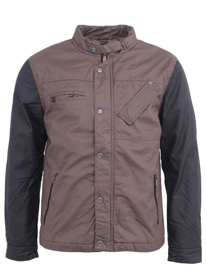 Jachetă bărbătească în negru și maro de la Blend