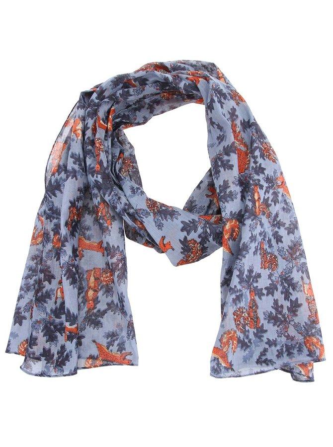 Modrý šátek s veverkami Disaster Collective Noun Squirrel