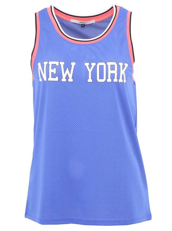 Modré tílko s nápisem New York ONLY NY