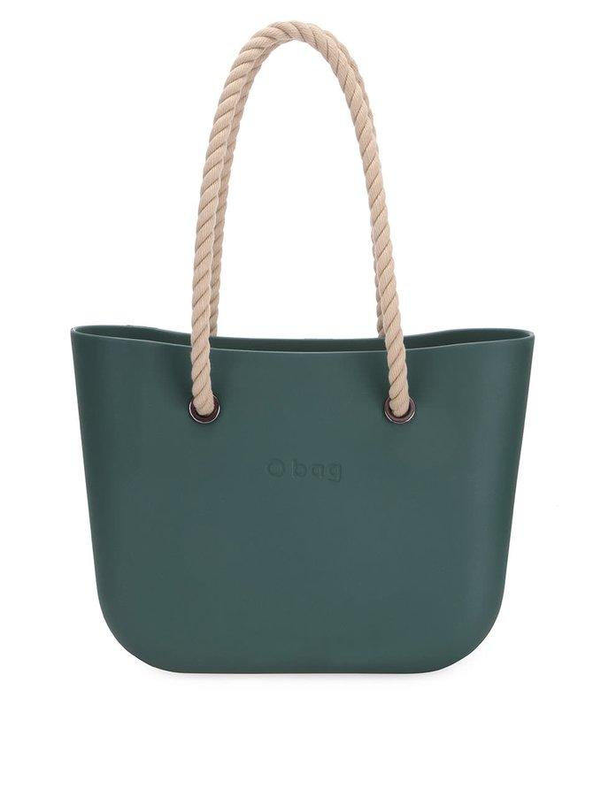Tmavě zelená plastová kabelka O bag