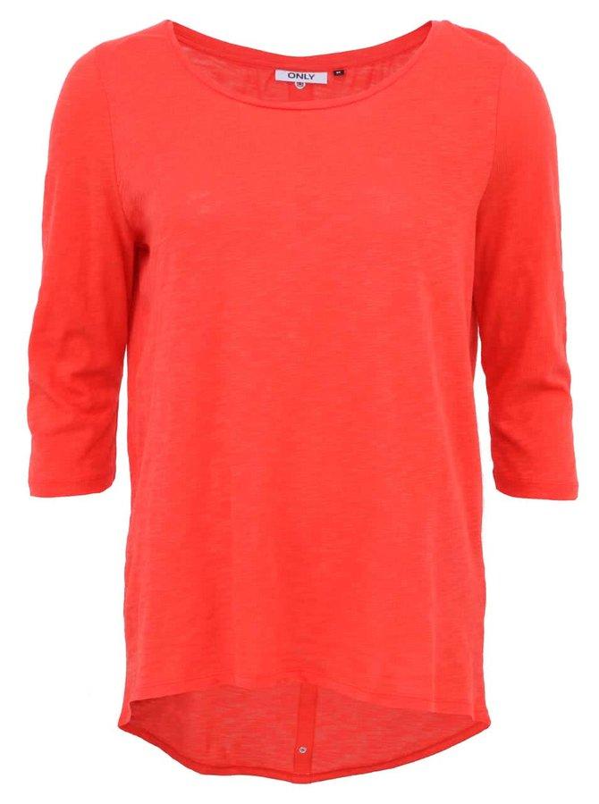 Červené tričko s 3/4 rukávy ONLY Casa
