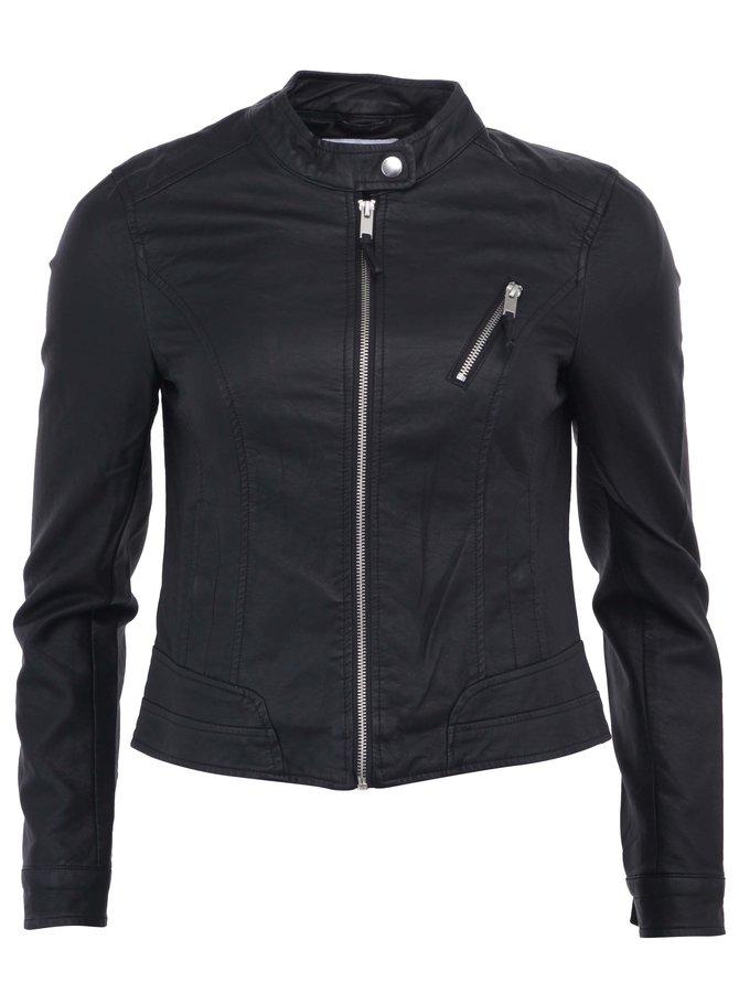 Jachetă neagră din piele artificială VERO MODA Irina