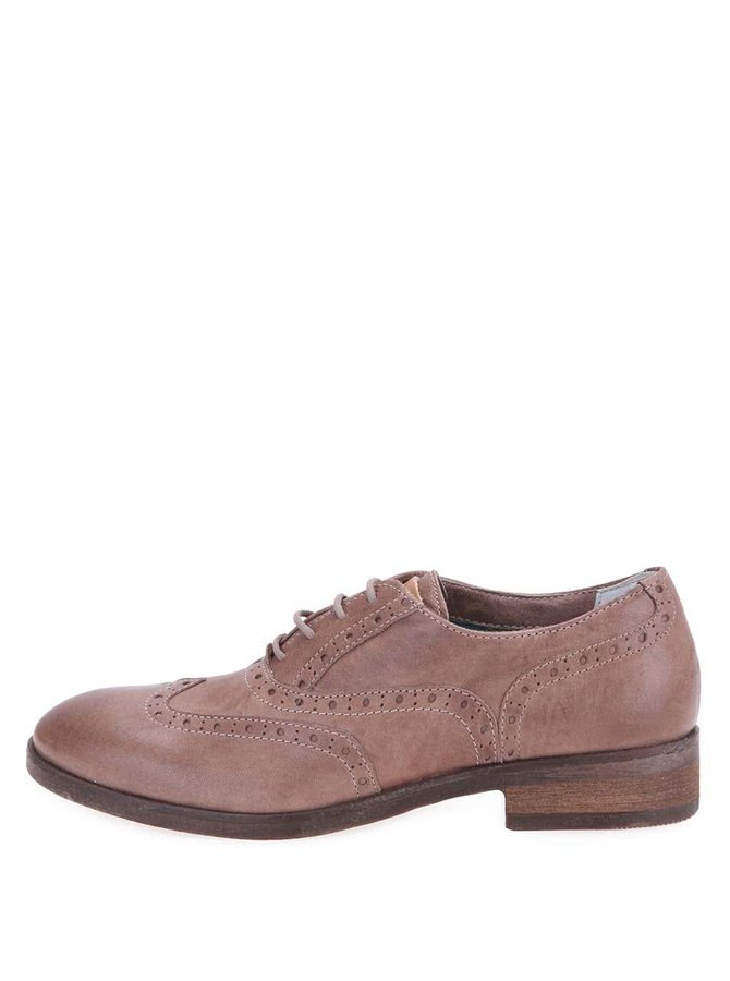 U.S. Polo Assn. Pantofi Oxford de damă Lauryn din piele, cu perforații - bej