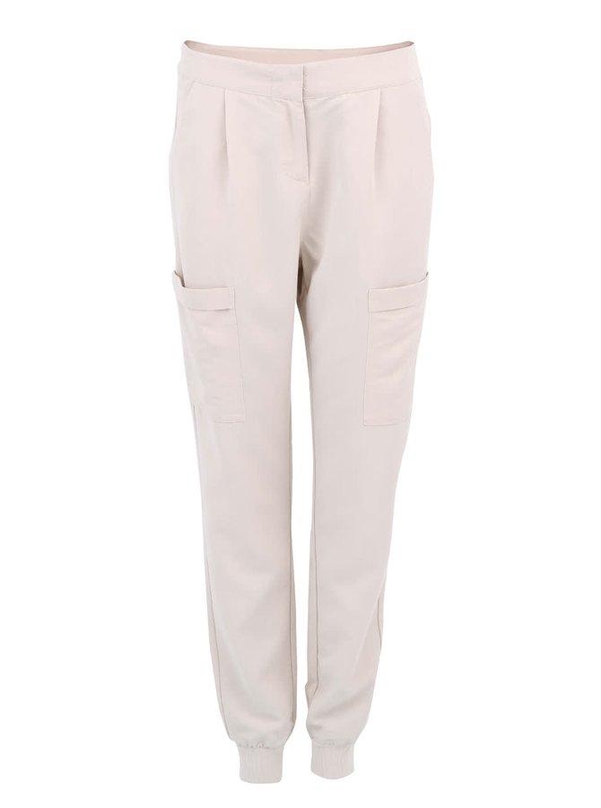 Béžové kapsáčové kalhoty VERO MODA Indi