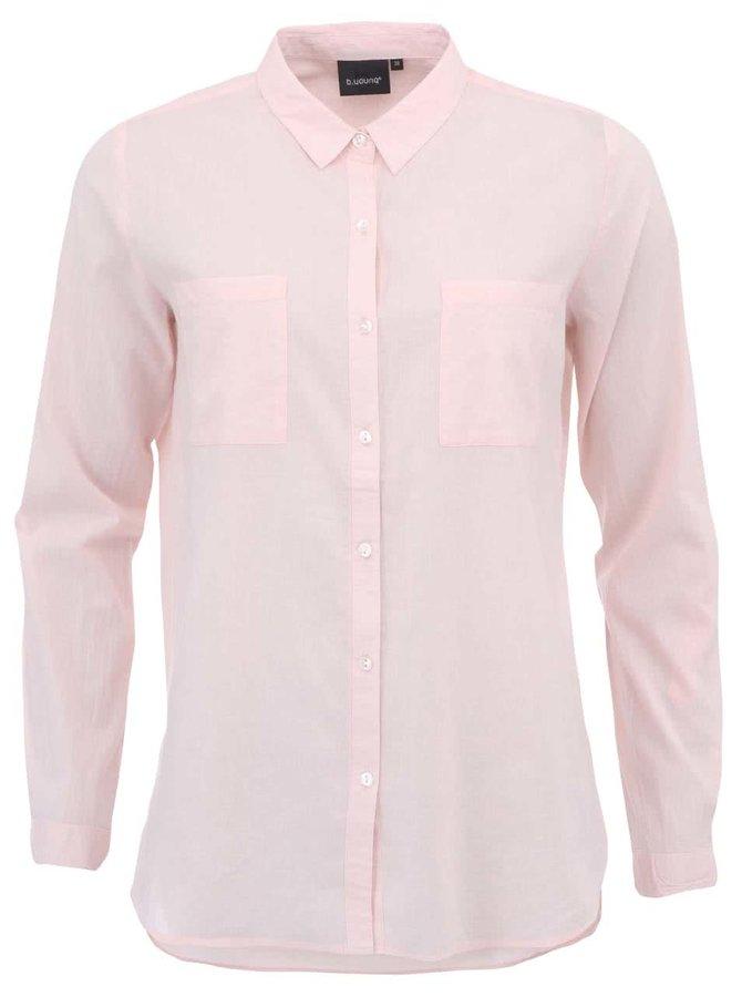 Cămașă lungă, supradimensionată roz pal b.young Gippo