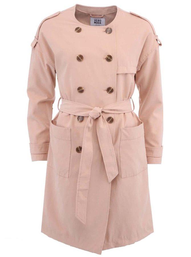 Bežový kabát VERO MODA Donate
